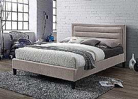 Picasso Fabric Bed (Mink Velvet) - Limelight Beds