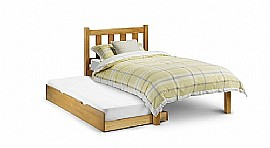Poppy Bed Frame & Optional Stopover Underbed (Pine) - Julian Bowen)