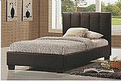 Pulsar Single Bed Frame  (Brown Faux Leather) - Limelight Beds
