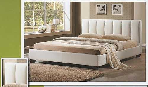 Pulsar Bed Frame (White Faux Leather) - Limelight Beds