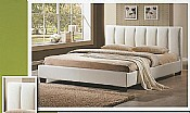 Pulsar Single Bed Frame (White Faux Leather) - Limelight Beds