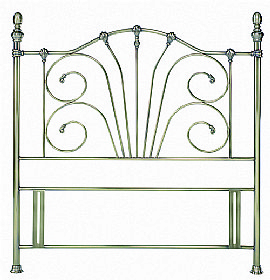 Rebecca Antique Brass Headboard - Bentley Designs
