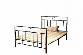 Riga Metal Bed Frame (Black) - Ambers International