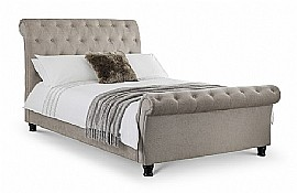 Ravello Upholstered Bed & Blanket Box (Mink Chenille fabric) - JB