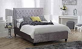 Rhea Bed Frame (Crushed Ice Velvet Fabric) - Limelight Beds
