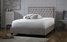 Rhea Bed Frame (Mink Velvet Fabric) - Limelight Beds