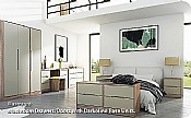 Monaco Mushroom Bedroom Range (14 combinations available) - Welcome Furniture