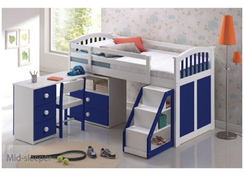 Ruby Mid Sleeper (Blue and White)  - Sweet Dreams