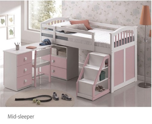 Ruby Mid Sleeper (Pink and White) - Sweet Dreams