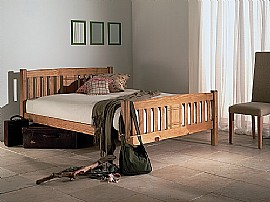Sedna Bed Frame (Honey Oak finish) - Limelight Beds