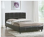 Derby Black Bed Frame (Faux Leather)