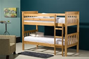 Seattle Bunk Bed (Antique Pine) - Birlea Furniture