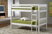 Seattle Bunk Bed (Ivory) - Birlea Furniture