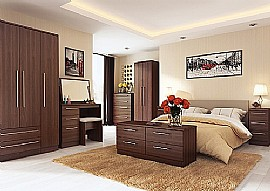Sherwood (Noche Walnut finish) Bedroom Range - Welcome Furniture