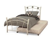 Soccer Single Bed with Guest Bed - 75cm OR 90cm (White) - Serene