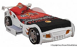 Sonic Turbo Racing Car Bed, matching Furniture and Bedding