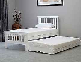 Sophia Solid Wood (Painted White Finish) Guest Bed - Emporia