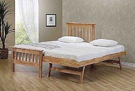 Sophia Solid Wood (Oak Finish) Guest Bed - EB