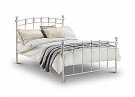 Sophie Bed Frame (Stone White /  Crystals) - Julian Bowen