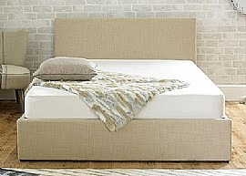 Stirling Ottoman Bed (Biscuit Fabric) - Emporia