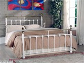 Tarvos Bed Frame (White & Brass) - Limelight Beds