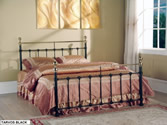 Tarvos Black Bed Frame (Black/Brass) - Limelight Beds