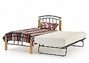 Tetras Single Bed & Guest Bed (Black/Beech)