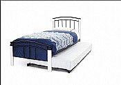 Tetras Single Bed & Guest Bed (White/Black) - Serene Furnishings