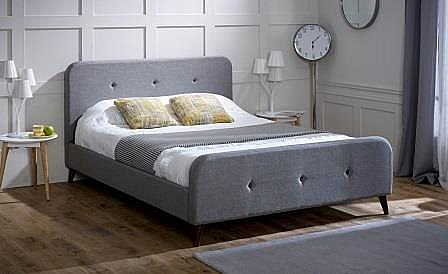 Tucana Fabric Bed (Grey) - Limelight Beds