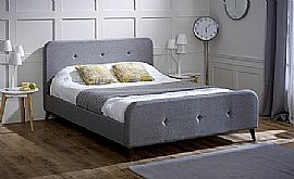 Tucana Fabric Bed in Grey fabric (LLB)
