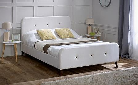 Tucana Fabric Bed (Ecru) - Limelight Beds