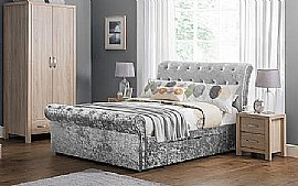 Verona 2 Drawer Storage Bed Frame (Silver Velvet) - JB