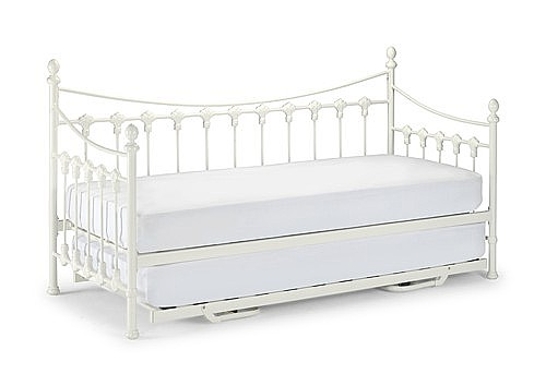 Versaille 3ft Day Bed & Optional Guest Bed (Stone White) - Julian Bowen