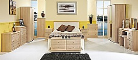 Warwick (Light Oak finish) Bedroom Range - Welcome Furniture