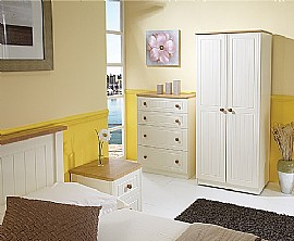 Warwick (Cream with Oak) Bedroom Range - Welcome Furniture