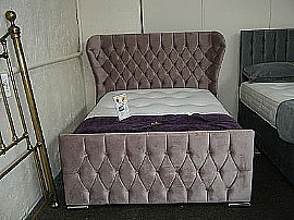 Wing Back Upholstered Bed