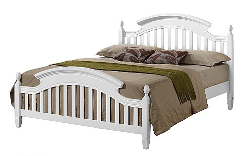 Zara White Wood Bed - Ambers International