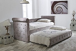 Zodiac Fabric Day Bed and Trundle (Mink) Limelight Beds