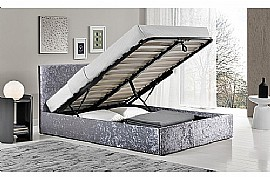 Berlin Fabric Ottoman Bed Frame (Steel) - Birlea Furniture