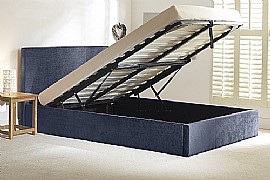 Stirling Ottoman Bed (Denim Blue Fabric) - Emporia