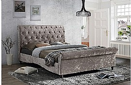 Brighton Fabric Bed Frame (Oyster) - Birlea Furniture