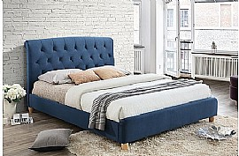Brompton Fabric Bed Frame (Midnight Blue) - Birlea Furniture