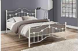 Canterbury Metal Bed Frame (Cream) - Birlea Furnishings