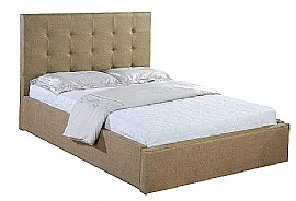 Sonya Fabric Bed Frame (Natural Brown) - Ambers International
