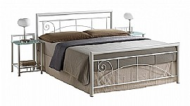 Lara Metal Bed (Black or White) - Ambers International