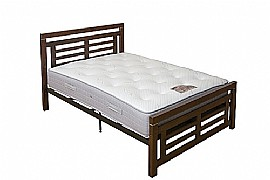 Colorado Bed Frame (Dark Wood) - Ambers