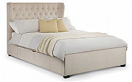 Geneva Bed with Storage Drawers (Pearl) - Julian Bowen