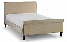 Grosvenor Fabric Scroll Bed Frame (Sand) - JB