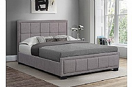 Hannover Fabric Bed Frame (Grey) - Birlea