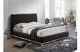 Helsinki Faux Leather Bed Frame (Brown) - Birlea Furniture